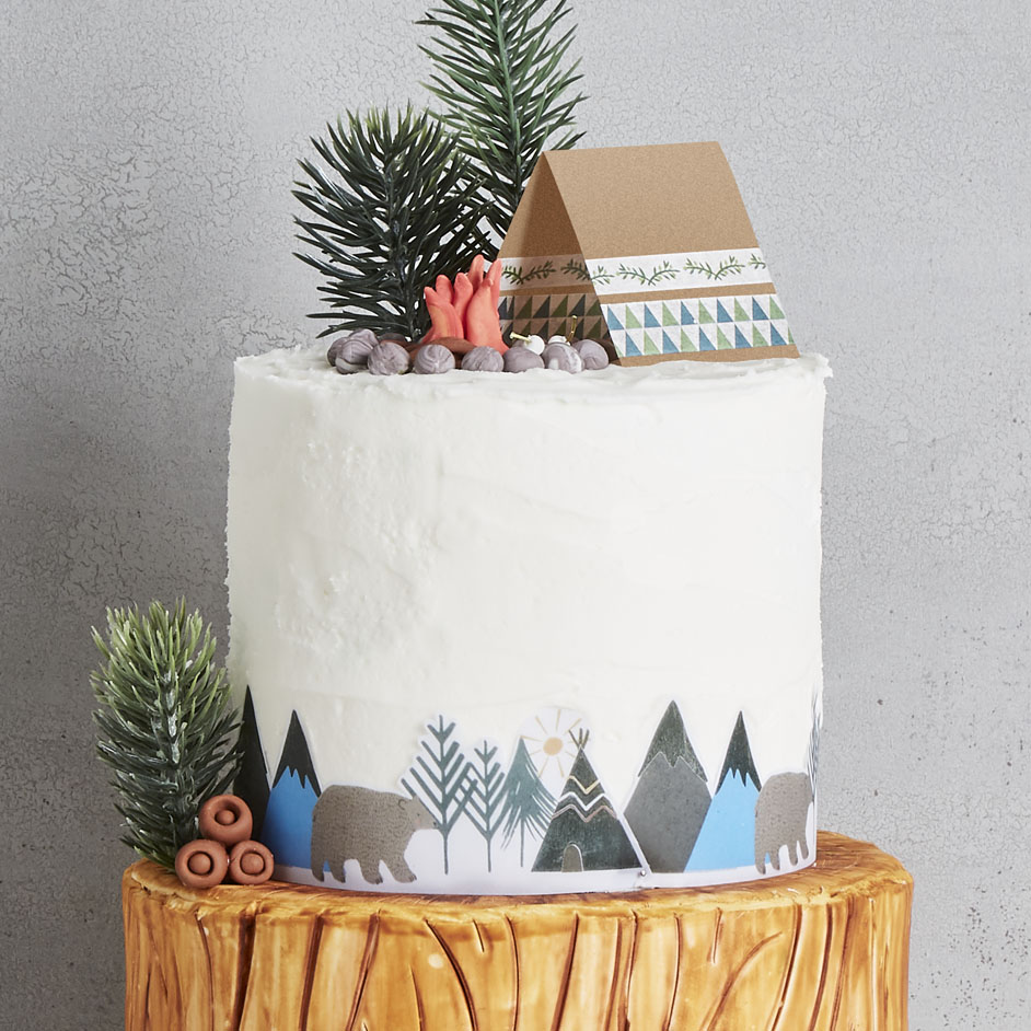 Camping Cake Project