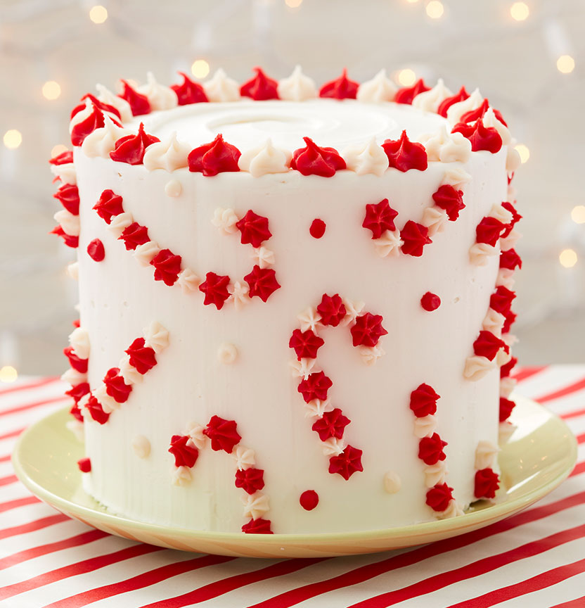 Candy Cane Cake Project