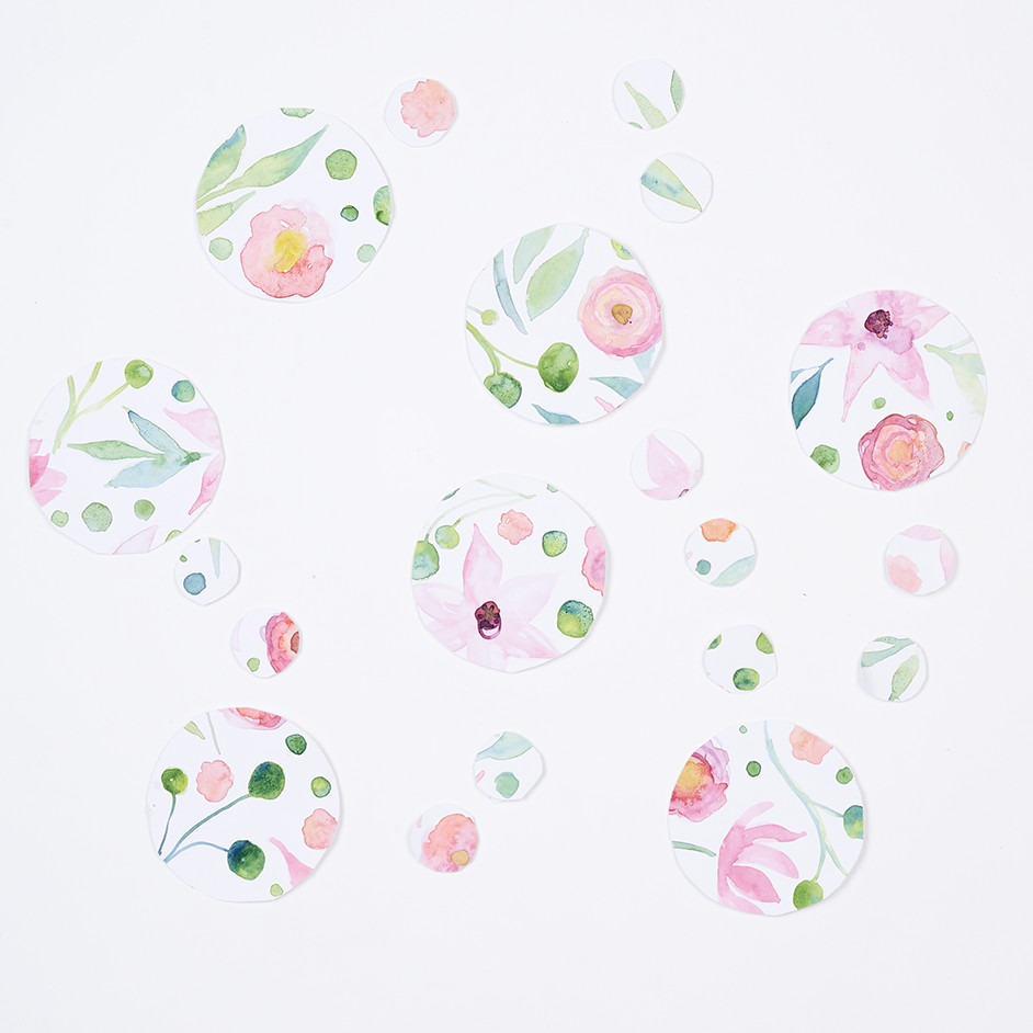 Carly Altree-Williams Watercolour Garland Project