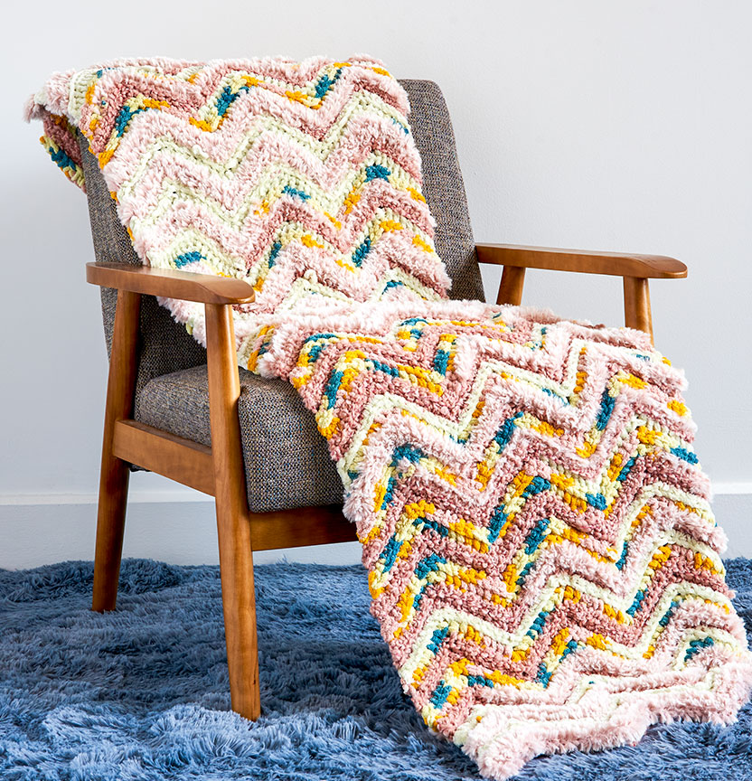 Casa Chevron Crochet Cottage Blanket