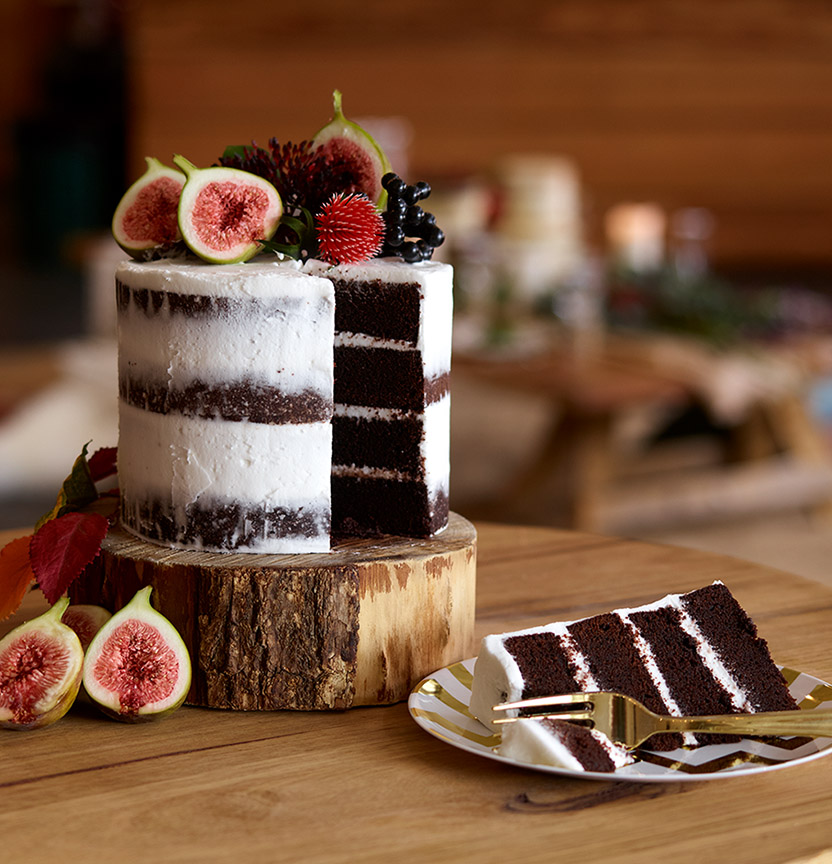 Chocolate Rustic Naked Cake Project