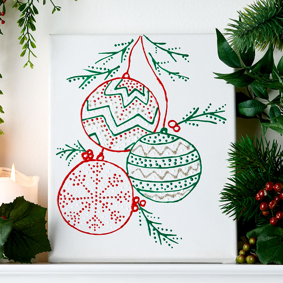 Christmas Bauble Artwork Project
