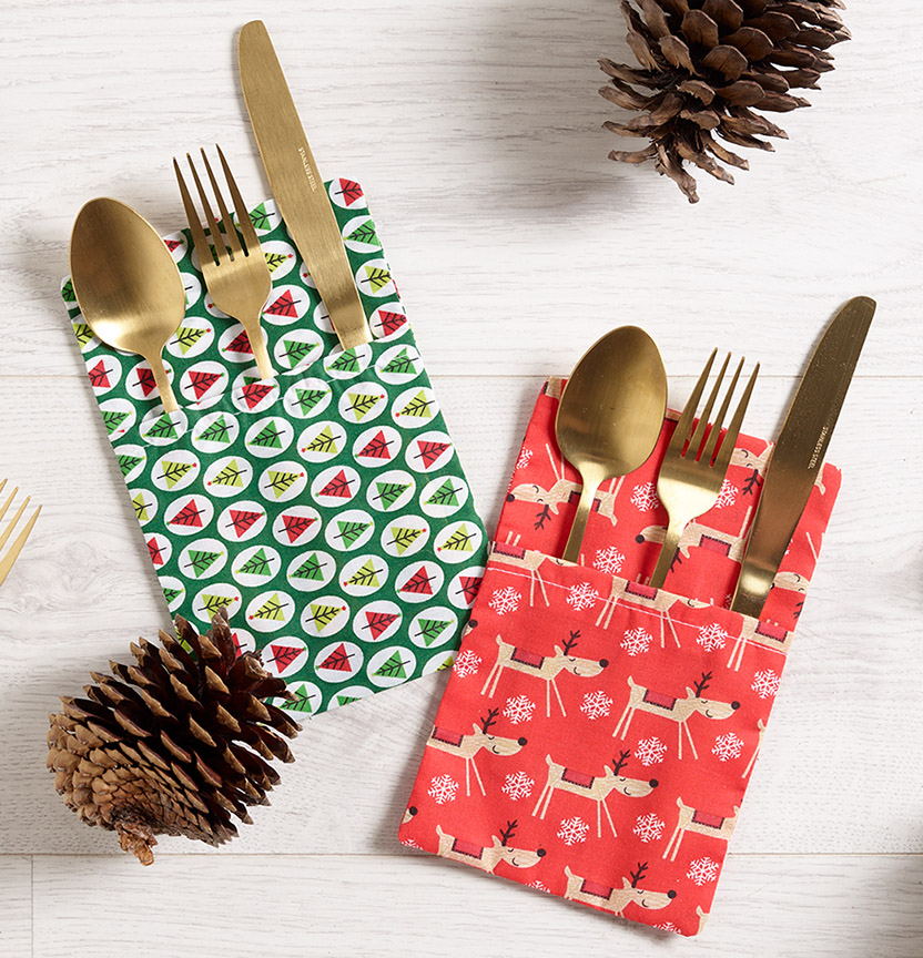 Christmas Cutlery Holder Project