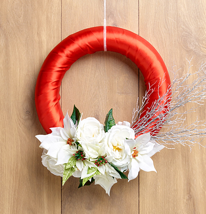 Christmas Floral Wreath Project