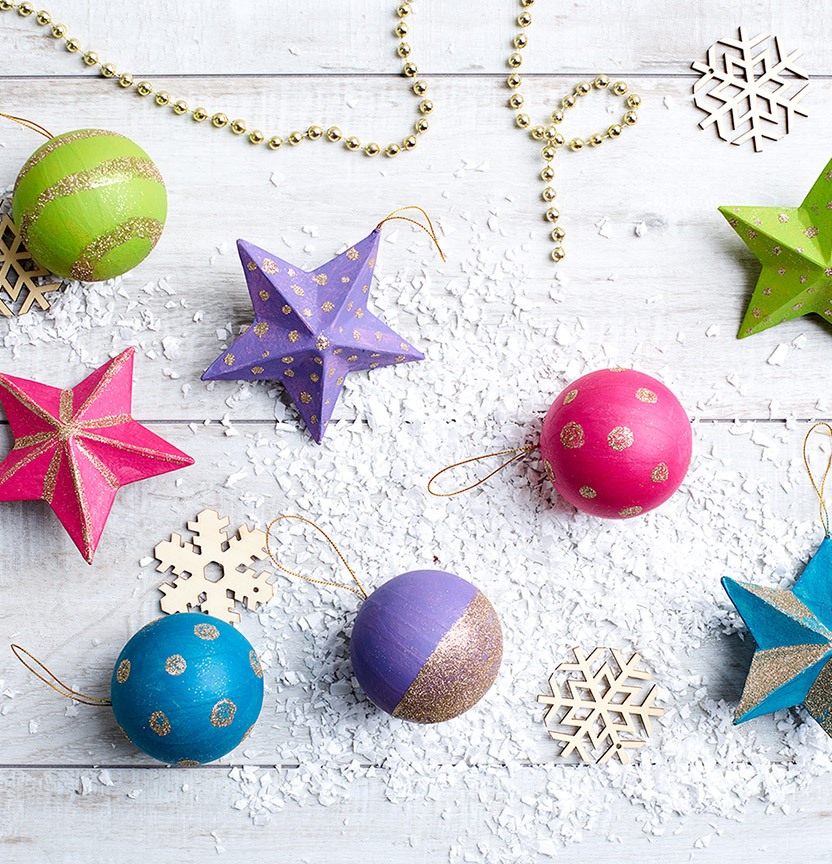 Christmas Merry & Bright Baubles Project