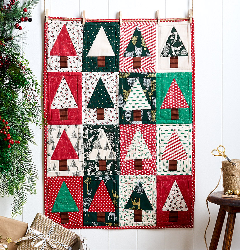 Christmas Quilt Wall Hanging Project