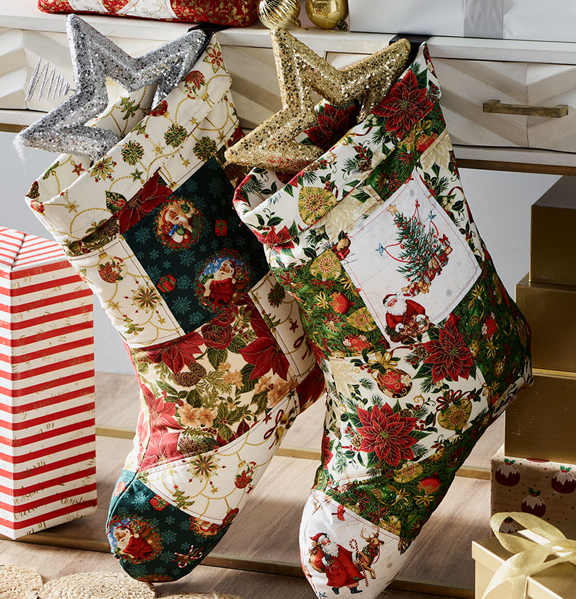 Christmas Quilted Stockings Project