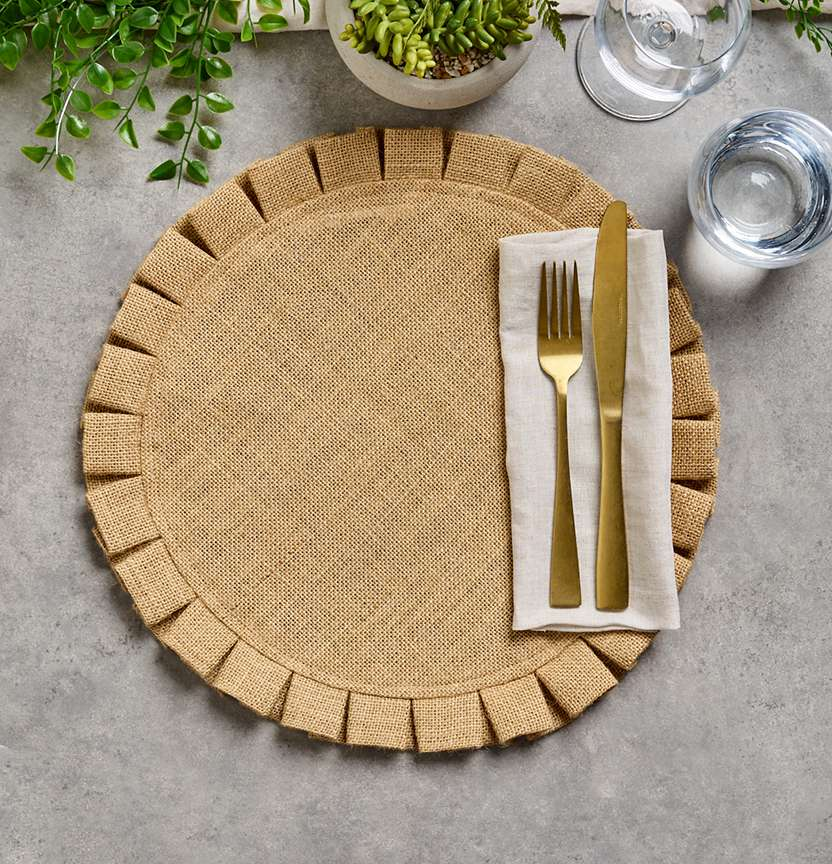 Circle Hessian Placemat Project