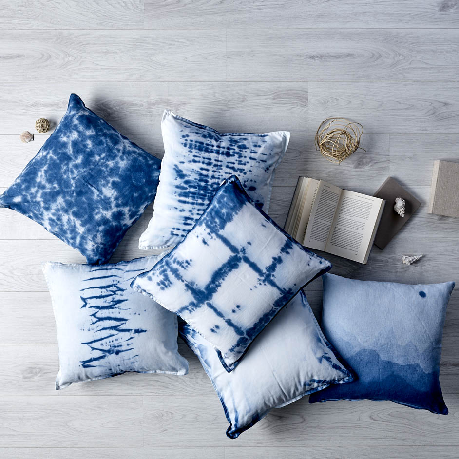 Coastal Shibori Cushion Covers Project