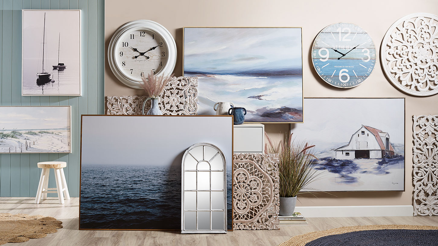 Wall Art, Clocks & Mirrors