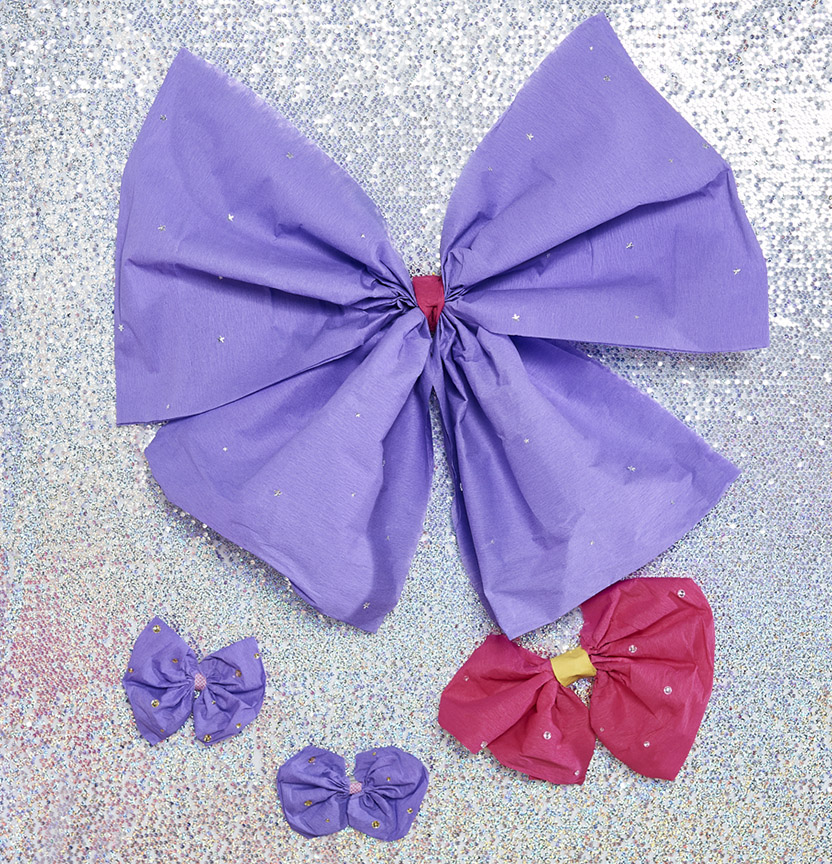 Crepe Paper Bows Project