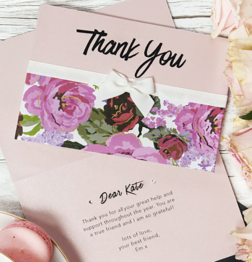 Cristina Re D.I.Y. Thank You Cards Project