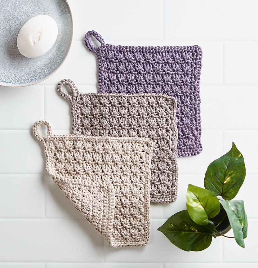 Crochet Bamboo Cotton Wash Cloths Project