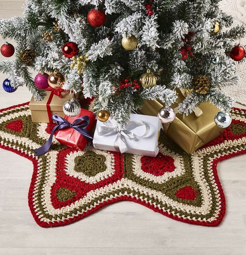 Crochet Christmas Tree Skirt Project