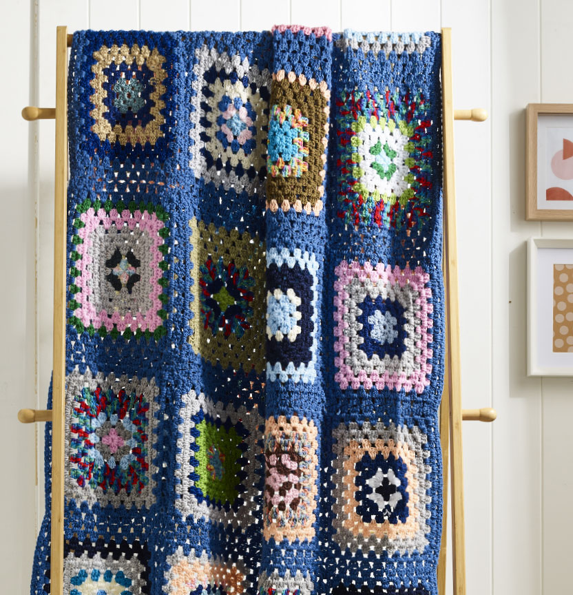 Crochet Granny Square Throw Project