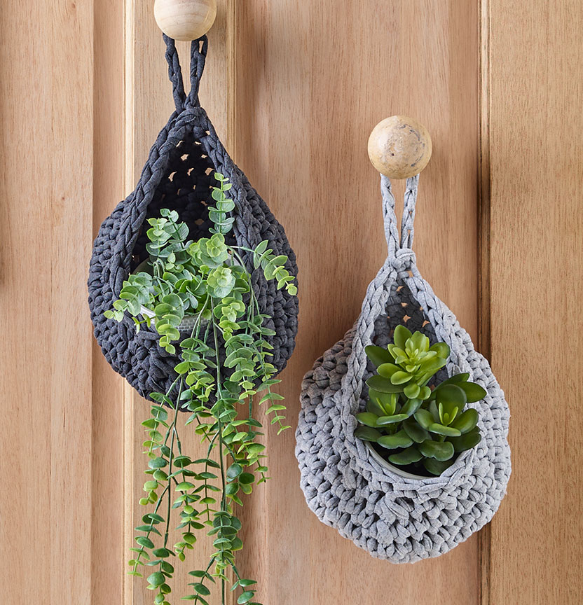 Crochet Plant Holder Project