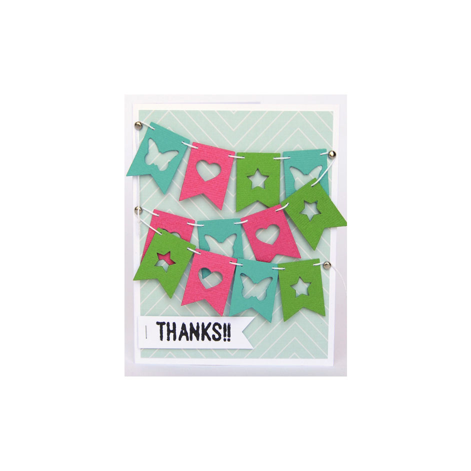 Diamond Press Bunting Card Project