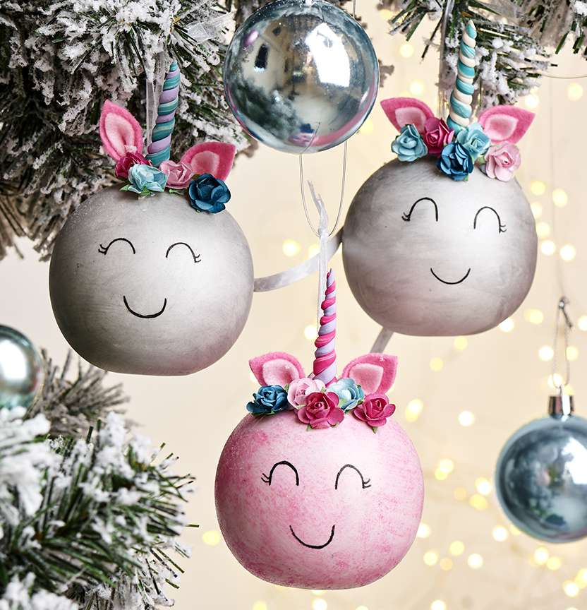 DIY Ceramic Unicorn Baubles Project