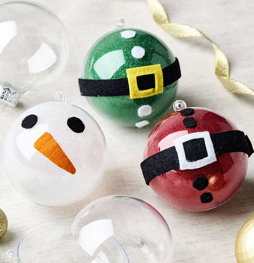 DIY Fillable Christmas Baubles Project