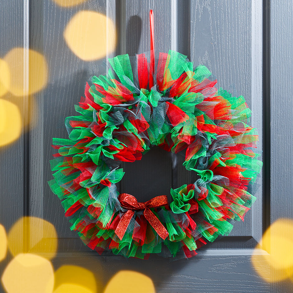 DIY Tulle Wreath Project
