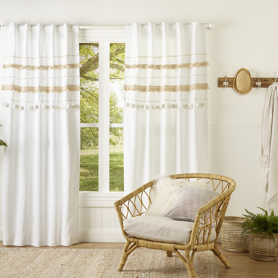 DIY White Boho Kids Curtain Project
