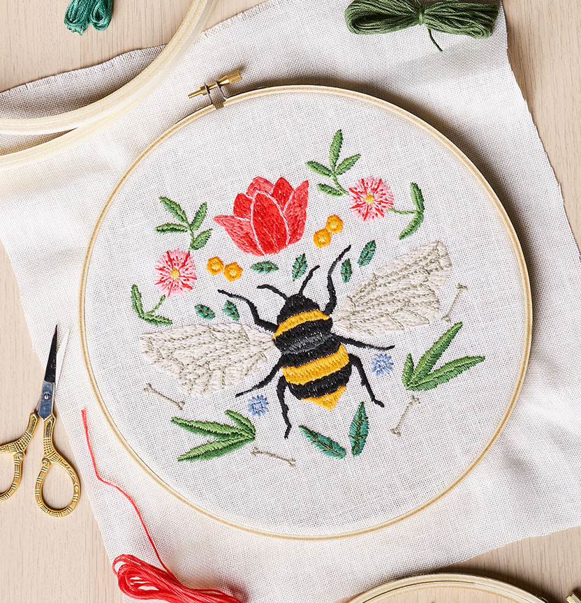 DMC Bee Embroidery Project