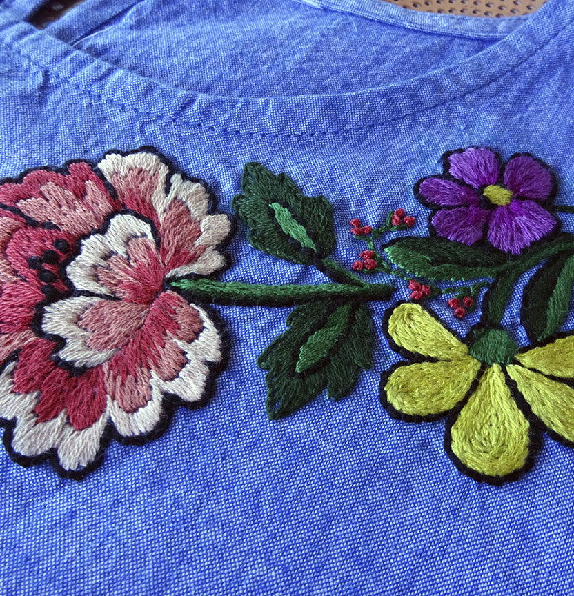 DMC Peony Rose Embroidery Project
