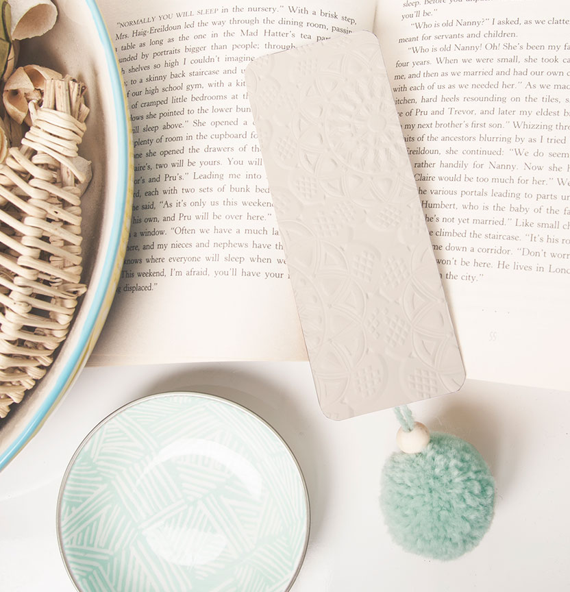 Doily Embossed Bookmark Project