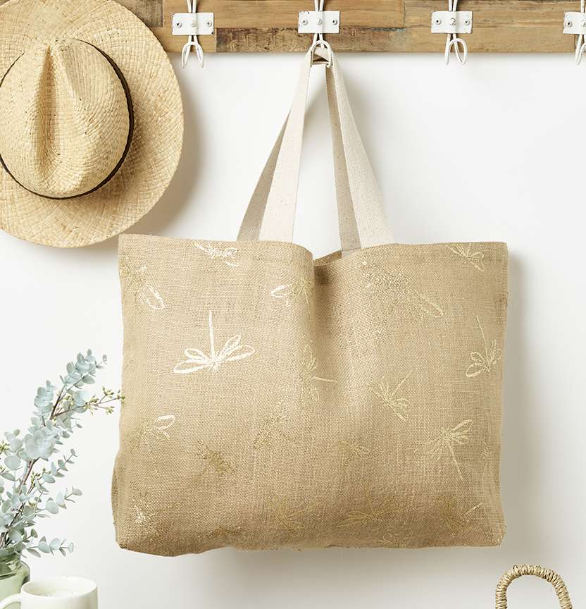 Dragonfly Hessian Bag Project