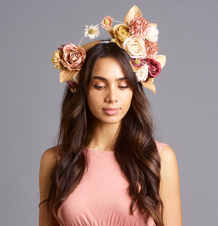 Dusty Floral Head Piece Project