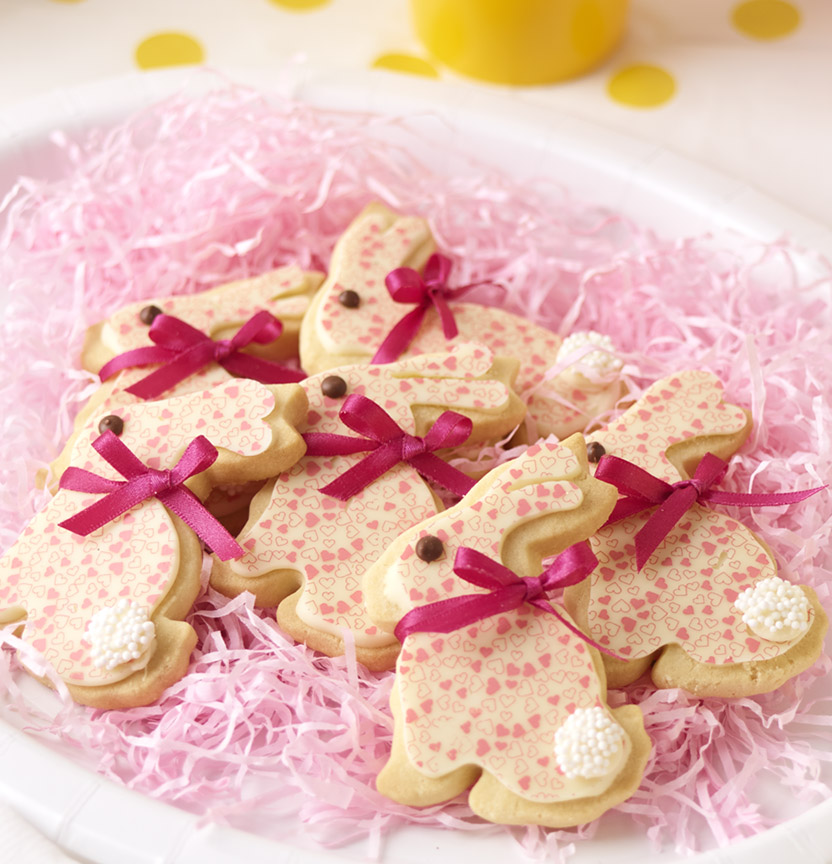 Easter Bunny Heart Transfer Cookie Project