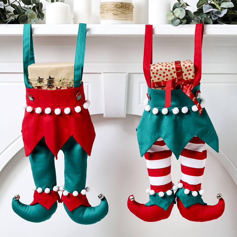 Elf Legs Christmas Stockings Project
