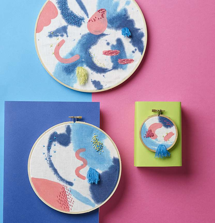 Embroidery Hoop Art Project