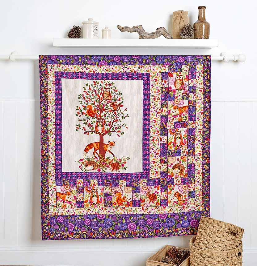 Enchanted Forest Panel Quilt Project