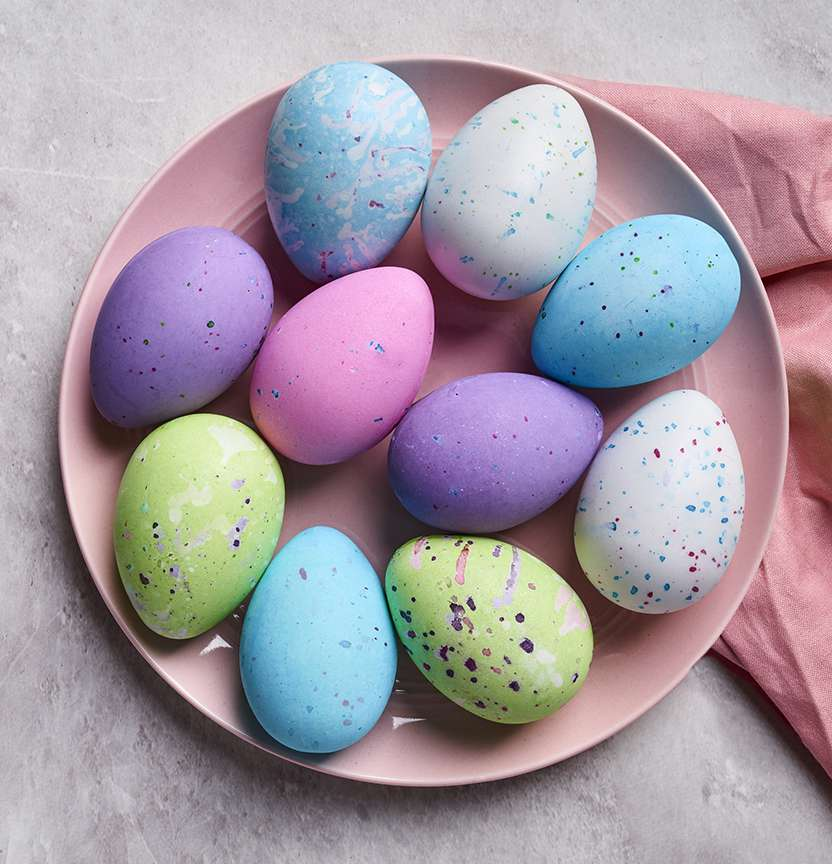 Fabric Dye Speckled Eggs Project