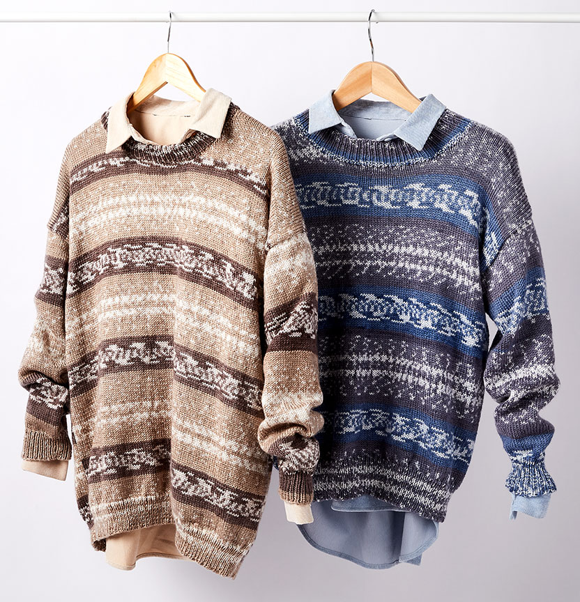 Fair Isle Womens & Mens Dropped Shoulder Jumper Project