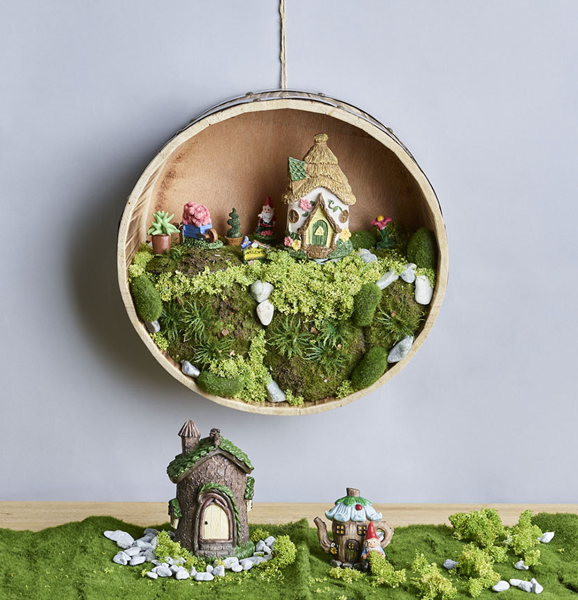 Fairy Village Tray Project