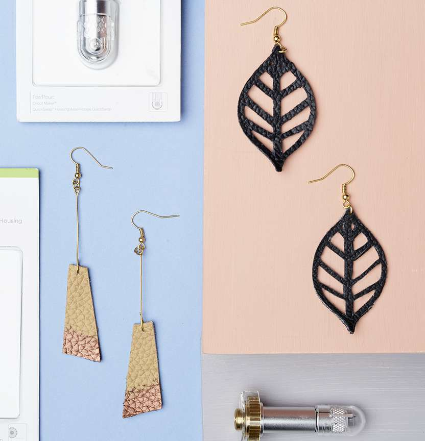 Faux Leather Earrings Project