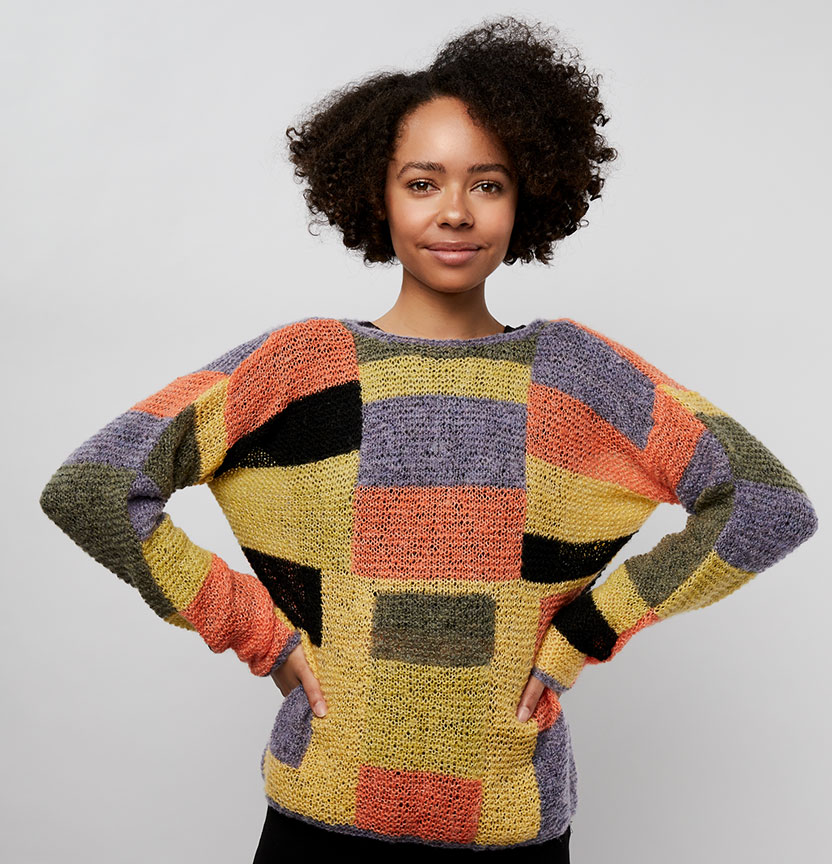 Faux Mo Patchwork Sweater Project