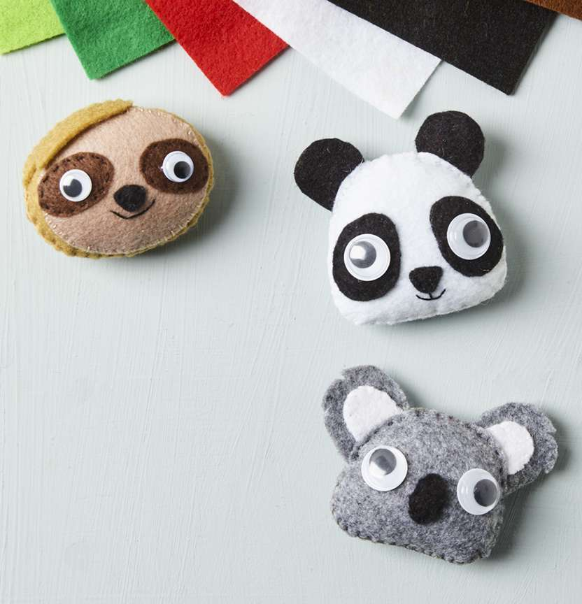 Felt Animal Heads Project