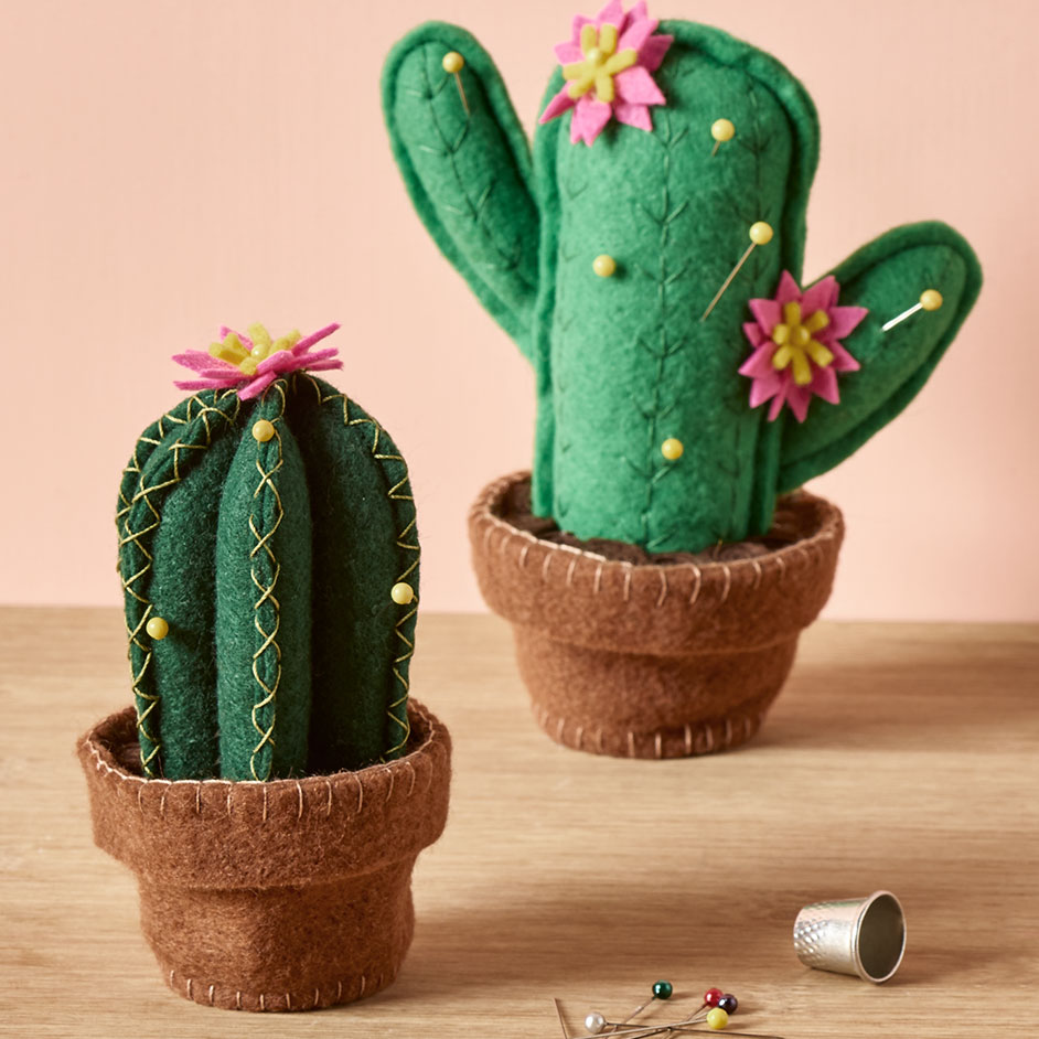Felt Cactus Pin Cushions Project
