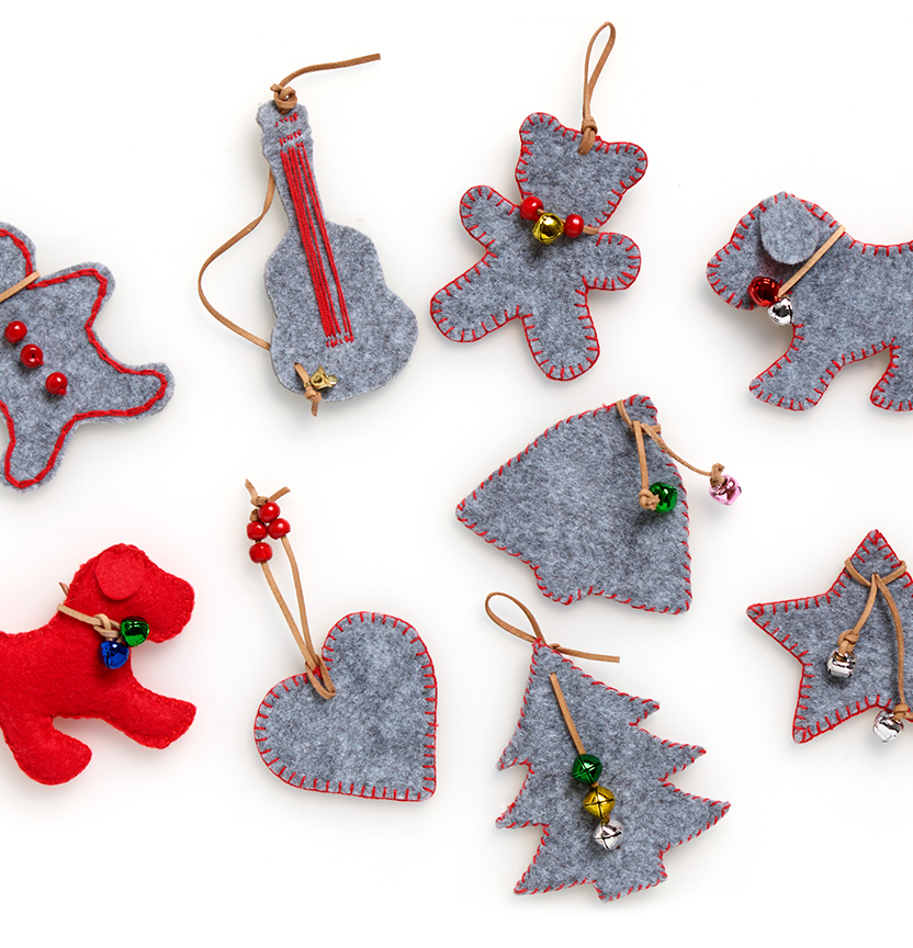 Felt Christmas Decorations Project