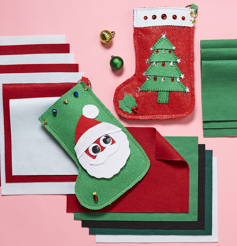 Felt Christmas Stockings Project