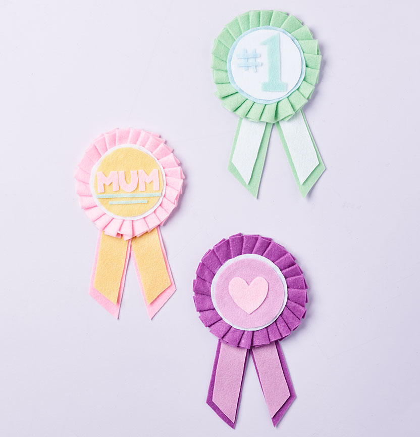 Felt Mothers Day Rosettes Project