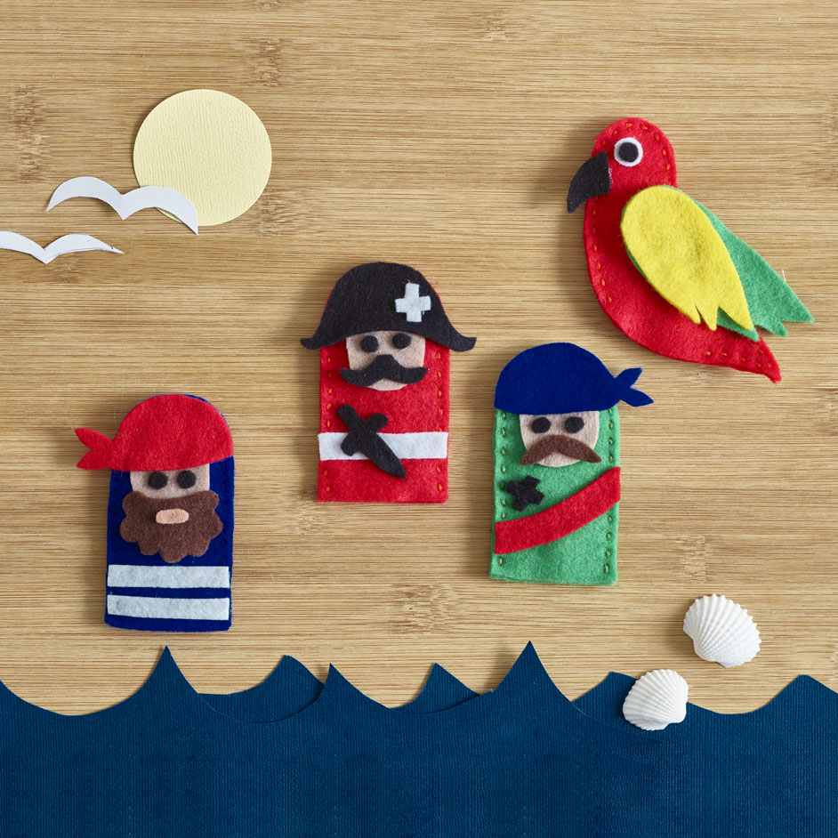 Felt Pirate Finger Puppets Project