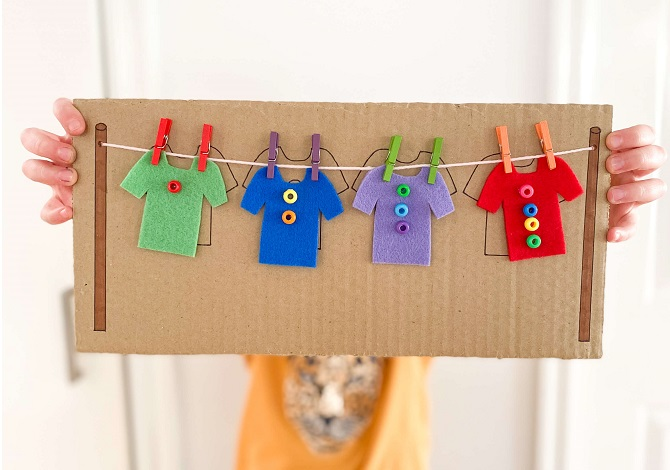 Fine Motor Clothesline - Make Learning Fun!