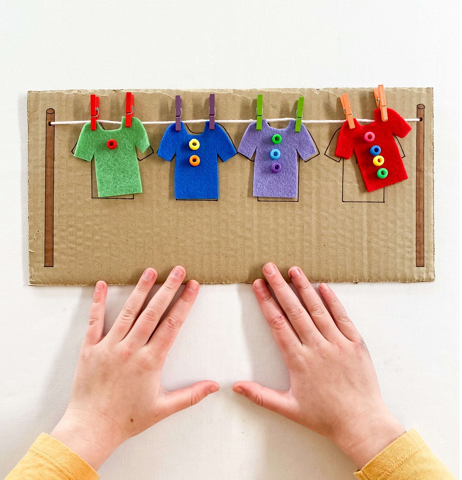 Fine Motor Clothesline - Make Learning Fun