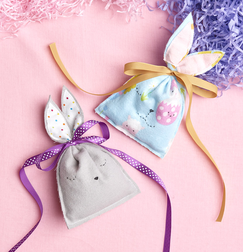 Flannelette Bunny Pouches Project
