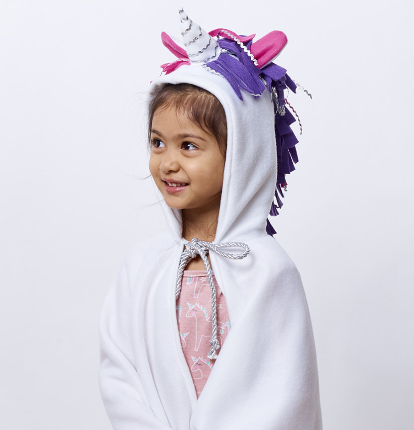 Fleece Unicorn Hoodie Cape Project