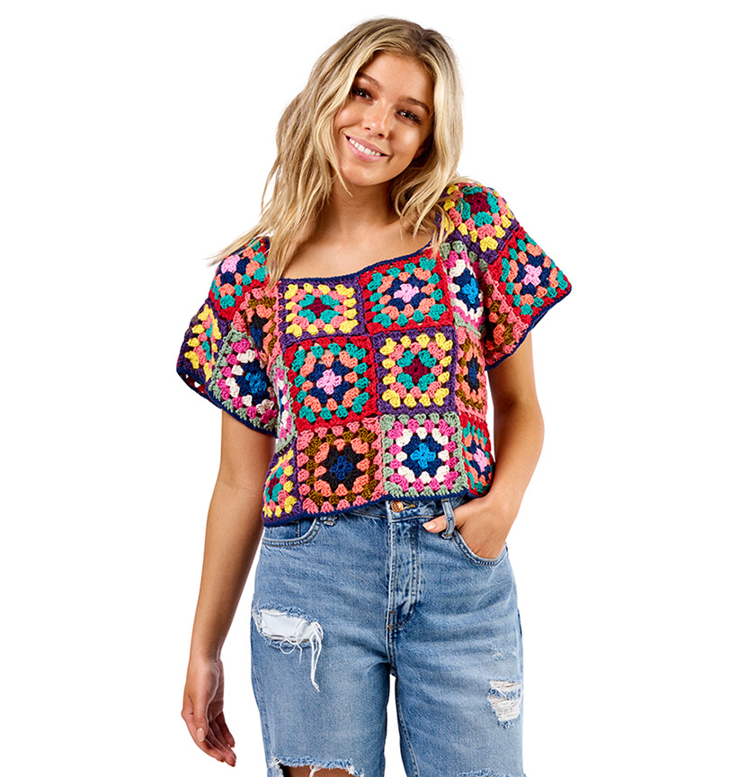 Flinders Crochet Granny Square Top Project